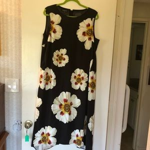 Lafayette 148 flower print sheath dress